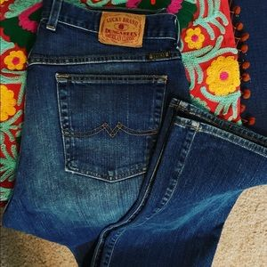 Lucky Brand Jeans Dungarees Size 14/32 worn once!